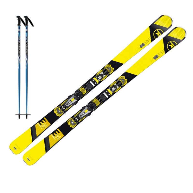 Skis + poles