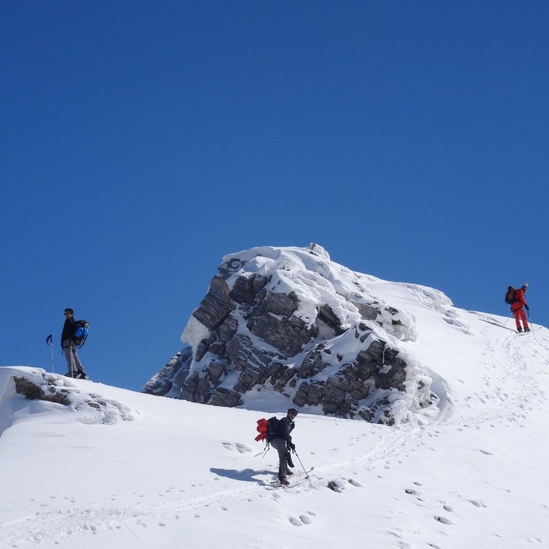 Ski hors piste la journée