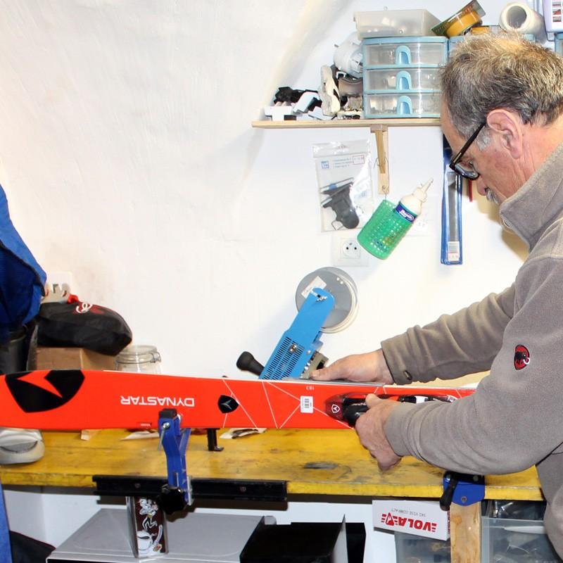 Réparation des skis